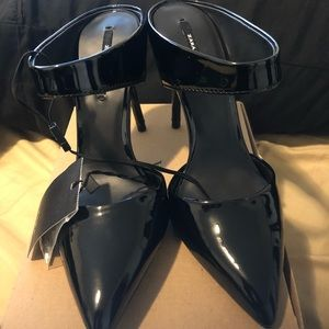 New Zara high heels black